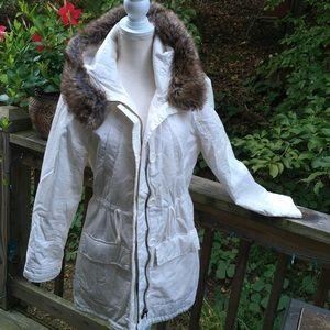 New York & Company Cream White Utility Jacket